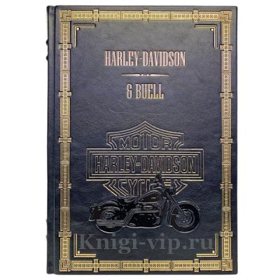 Harley-Davidson & Buell. Подарочная книга в кожаном переплёте