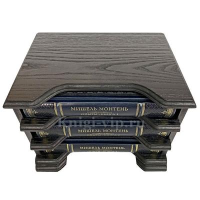 Мишель Монтень - Опыты (в 3 книгах) в деревянном футляре.