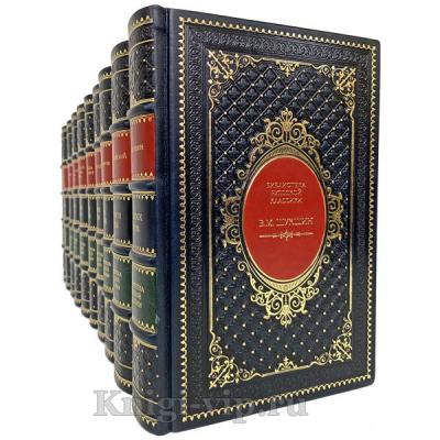 Библиотека русской классики в 100 томах. Книги в кожаном переплёте.