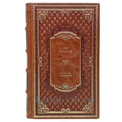Лев Толстой. Собрание сочинений в 12 томах. Книги в кожаном переплёте.