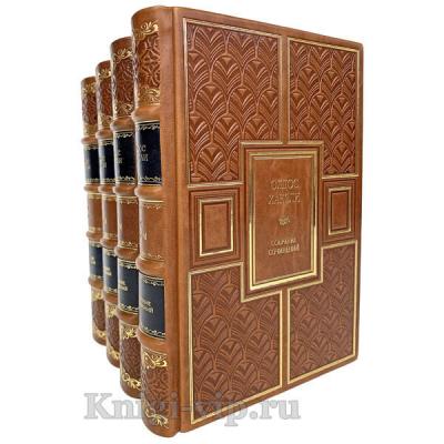 Олдос Хаксли. Собрание сочинений в 4 томах. Книги в кожаном переплёте.