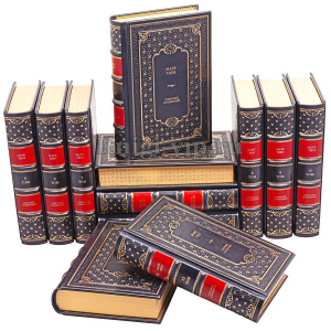 Марк Твен. Собрание сочинений в 12 томах. Книги в кожаном переплёте.