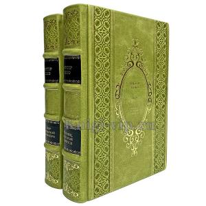 Виктор Гюго. Собрание в 2 томах. Книги в кожаном переплёте