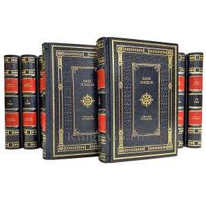 Джек Лондон. Собрание сочинений в 14 томах. Книги в кожаном переплёте.