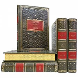 Сомерсет Моэм. Собрание сочинений в 5-ти томах. Книги в кожаном переплёте