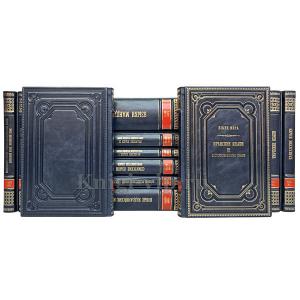 """Серия книг """"Языки мира"""" в 19 книгах в кожаном переплёте."""