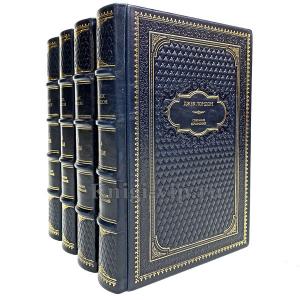 Джек Лондон. Собрание сочинений в 4 томах. Книги в кожаном переплёте.
