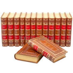 Валентин Пикуль. Собрание сочинений в 22 томах (28 книг). Книги в кожаном переплёте.