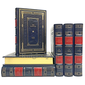 Лев Толстой. Собрание сочинений в 6 томах. Книги в кожаном переплёте