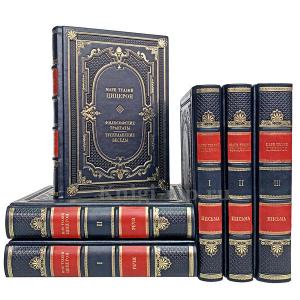 Марк Туллий Цицерон. Собрание в 6 томах. Книги в кожаном переплёте.
