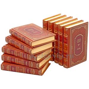 М. Е. Салтыков-Щедрин. Собрание сочинений в 10 томах. Книги в кожаном переплёте.