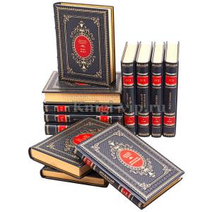 Библиотека генерального директора в 12 томах. Собрание в кожаном переплете