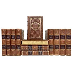 А. П. Чехов. Собрание сочинений в 12 томах. Книги в кожаном переплёте.