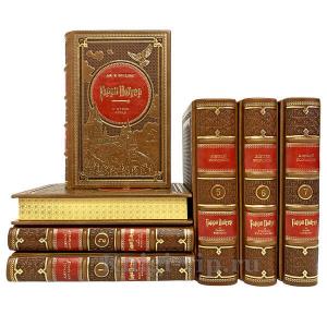 Гарри Поттер (7 книг) в кожаном переплёте и подарочном футляре. Джоан Роулинг