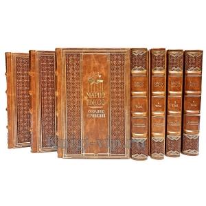 Марио Пьюзо. Собрание сочинений в 7-ми томах. Книги в кожаном переплёте