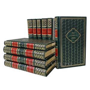 Виктор Гюго. Собрание сочинений в 10 томах. Книги в кожаном переплёте.
